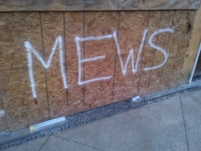 A friend thought perhaps I'd resorted to graffiti blogging instead of keeping up here.
