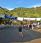 Pre-race, under the flags.