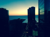 Chicago at dawn - perfect day to run.
